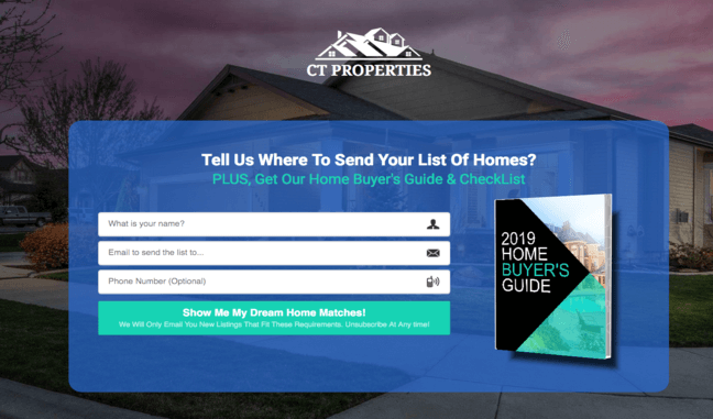 realtor funnel template free guide page