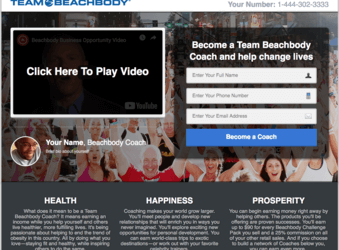 Free Team Beachbody Sales & Marketing Funnel Template
