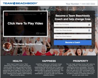 Team Beachbody free share funnel template