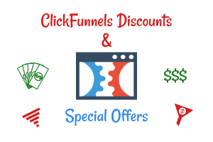 ClickFunnels logo with funnel and money icons