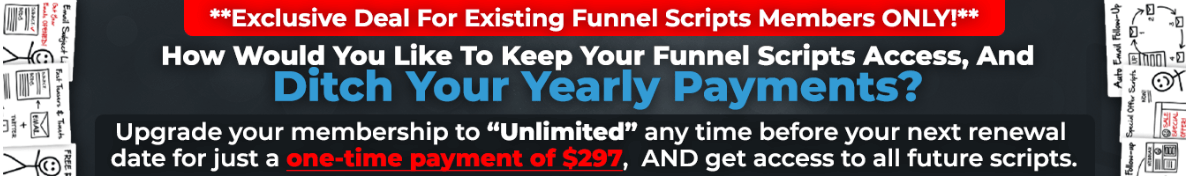 The special deal available on the Funnel Scripts webinar