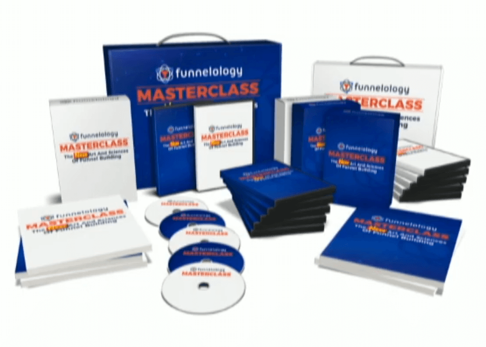 a screenshot of the Funnelology Masterclass system