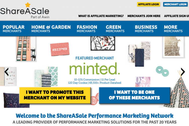 The Shareasale affiliate network